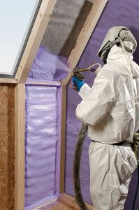spray foam insulation technician