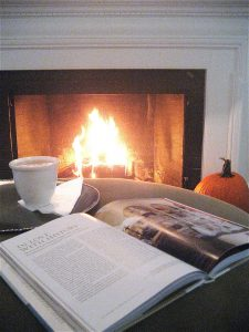 Cozy fall fireplace