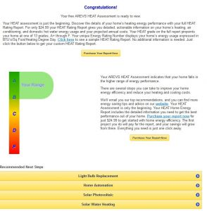Free Assessment screen shot A-B rating