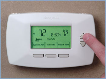 A basic programmable thermostat from Honeywell
